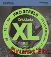 D'Addario Reg Top/ Med Bottom, 45-105, Long Scale Electric Bass Strings EPS165