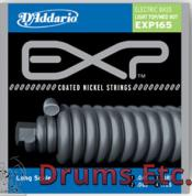 D'Addario Coated Light Top/Medium Bottom, 45-105, Long Scale Electric Bass Strings EXP165