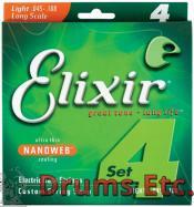 Elixir Light Long Scale Nanoweb Electric Bass Strings 14052