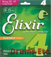 Elixir Heavy Long Scale Nanoweb Electric Bass Strings 14102