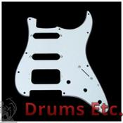Fender - 3-ply white 11-hole mount h/s/s stratocaster pickguard