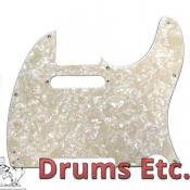 Fender Telecaster Pickguard: Assorted Aged White Moto 099-2174-000