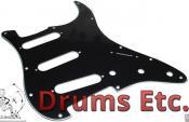 Fender Stratocaster Pickguard: 11 Hole (Modern) Black 099-1359-000