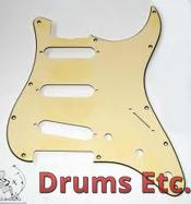 Fender Stratocaster Pickguard: 11 Hole (Modern) Gold Anodized 099-2139-000