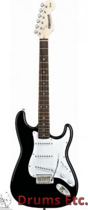 Fender Starcaster Stratocaster Gloss Black Finish W/Bag