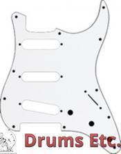 Fender Stratocaster Pickguard: 11 Hole (Modern) White 099-1360-000