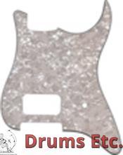 Fender Stratocaster Pickguard: 11 Hole (Modern) White Pearl 1 HB 1 Knob 099-1384-000
