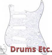 Fender Stratocaster Pickguard: 11 Hole (Modern) White Pearl 099-2140-000