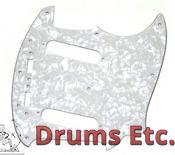 Fender Mustang Pickguard: White Pearl 008-0144-000