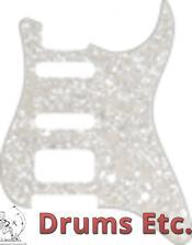 Fender Stratocaster Pickguard: 11 Hole (Modern) White Pearl 099-1338-000