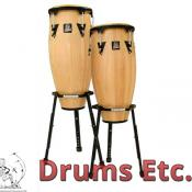 Latin Percussion Aspire Wood Conga Set w/ Basket Stands