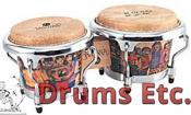 Latin Percussion Santana Mini Tunable Natural Wood Bongos LPM200-AW