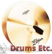"""18"""" A Zildjian Band & Orchestral Series Symphonic French Tone Cymbals A0427"""