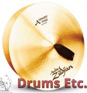 """16"""" A Zildjian Band & Orchestral Series Concert Stage Cymbals A0444"""