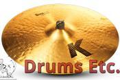 """22"""" K Zildjian Series Dark Medium Ride Cymbal K0830"""