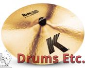 "18"" K Zildjian Series Dark Crash Medium Thin Cymbal K0915"