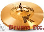 "14.25"" Zildjian K Custom Series Hybrid Hi-Hat Cymbals"
