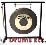 "12"" Zildjian Band & Orchestral Series Traditional Gong and Table Top Stand Set P0565"