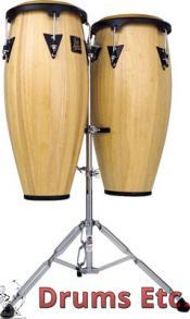 Latin Percussion Aspire Wood Conga Set w/ Double Stand