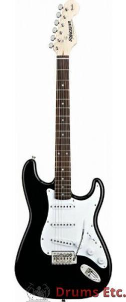 Fender Starcaster Stratocaster Gloss Black Finish Wbag Ru Drums Etc