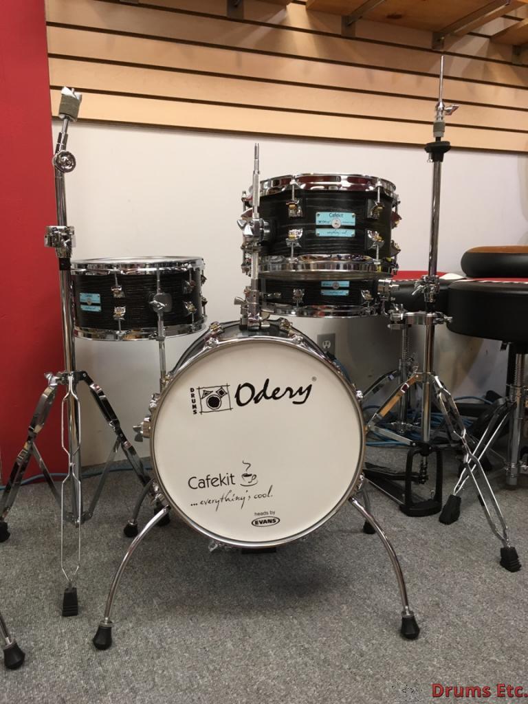odery black ash cafe kit portable drum set with hardware drums etc. Black Bedroom Furniture Sets. Home Design Ideas