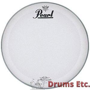 pearl masterworks coated logo bass drum heads drums etc. Black Bedroom Furniture Sets. Home Design Ideas