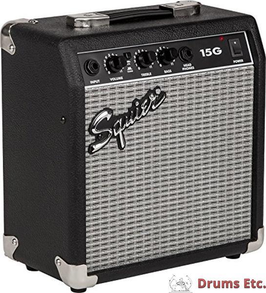 fender squier 15 watt guitar amp 15g drums etc. Black Bedroom Furniture Sets. Home Design Ideas