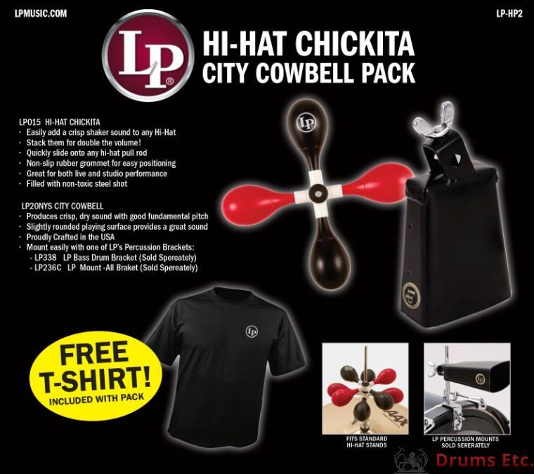 Latin Percussion Hi Hat Chichita City Cowbell Pack LP-HP2