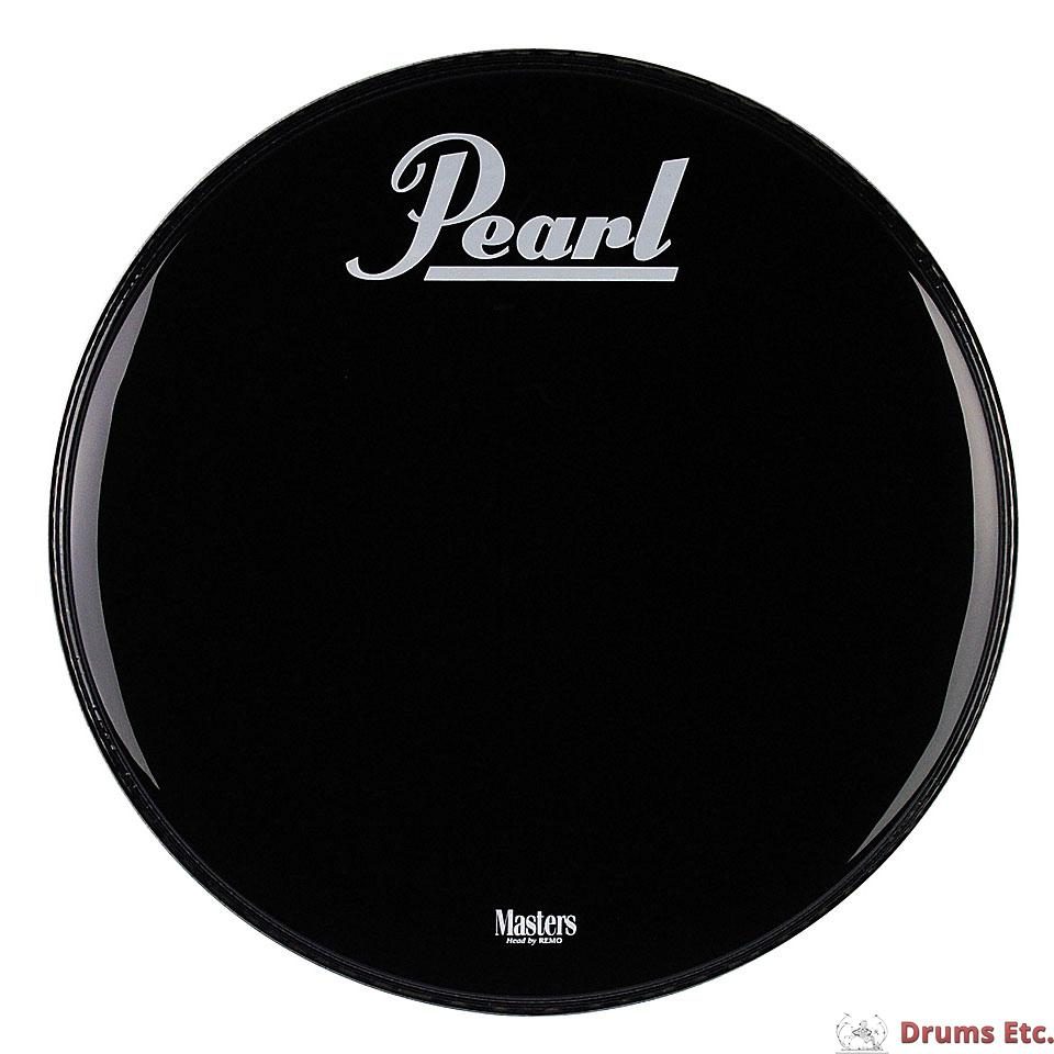 pearl 22 masters logo ebony powerstroke 3 bass drum head p3 1022 pl es ebay. Black Bedroom Furniture Sets. Home Design Ideas