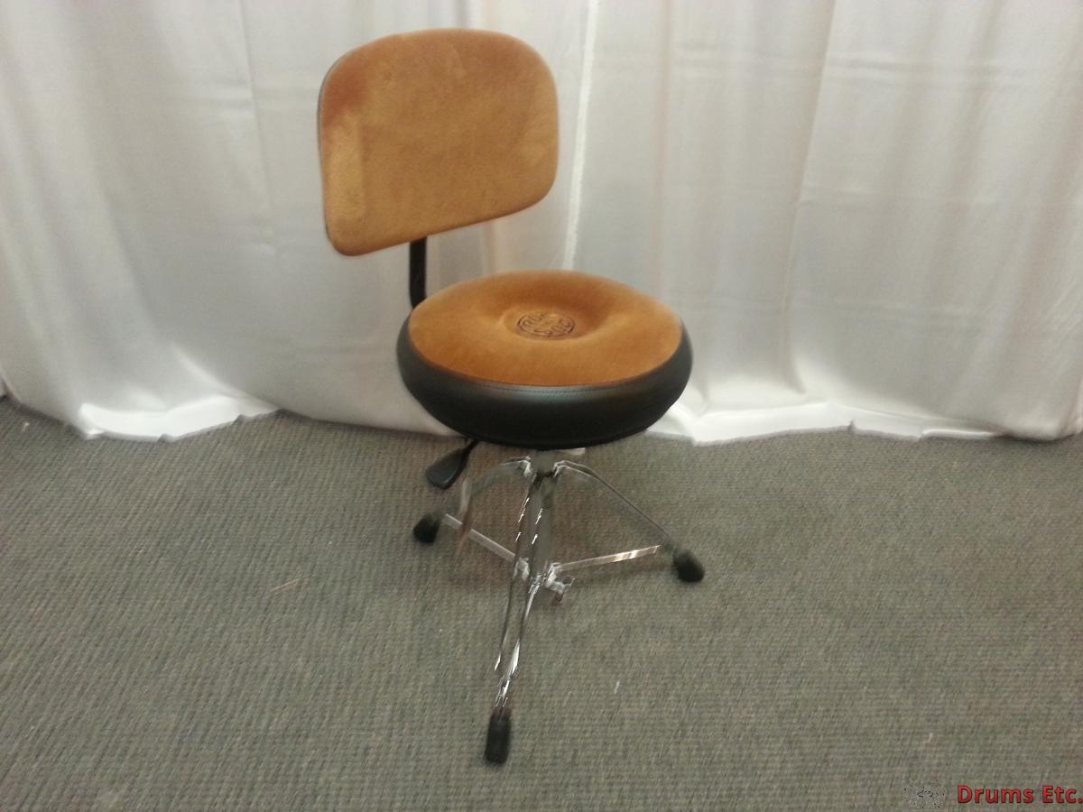 roc n soc nitro throne round style tan with back rest drums etc. Black Bedroom Furniture Sets. Home Design Ideas