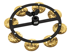 Meinl Headliner Series Hammered Brass Single Row Hihat Tambourine HTHH1B-BK
