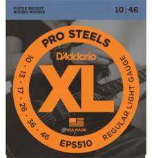 D'Addario Regular Light, 10-46 Pro Steel Guitar Strings 3 Pack EPS510
