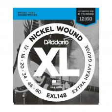 D'Addario Extra Heavy,12-60, Guitar Strings Single Set EXL148