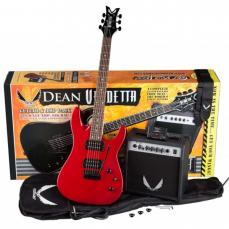 Dean Vendetta Guitar & Amp Pack Metallic Red
