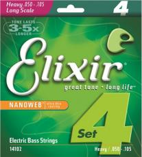 Elixir Heavy Long Scale Nanoweb Electric Bass Strings 14102