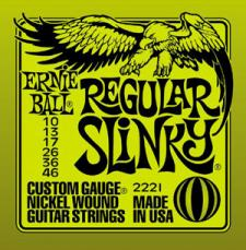 Ernie Ball Regular Slinky Electric Guitar Strings EB2221