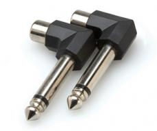 Hosa Right-angle Adaptors, RCA to 1/4 in TS, 2 Pc. GPR-123