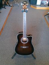 Ibanez PF Series Acoustic Electric Guitar PF28ECE Dark Violin Sunburst-3R-02 RU