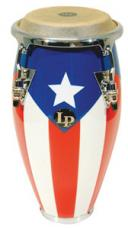 Latin Percussion Mini Tunable Puerto Rican Flag Wood Conga LPM198PR