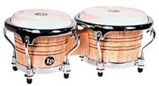 Latin Percussion Natural Wood Mini Tunable Bongos LPM199-AW