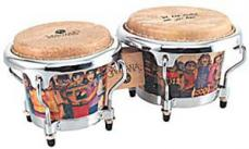 Latin Percussion Santana Mini Tunable Natural Wood Bongos LPM200-AW