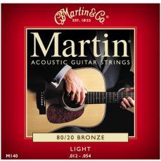 Martin M140 80/20 Bronze Light Acoustic Guitar Strings 3 Pack RU