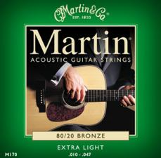 Martin Extra Light Acoustic Guitar Strings M170