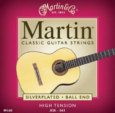 Martin Classical Silverplated Ball End High Tension Guitar Strings M160