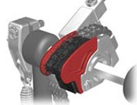 Pearl Eliminator Pedal Red Cam CAMRD