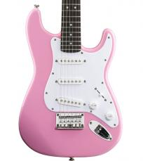 Squier Bullet Strat Electric Guitar By Fender Pink Finish