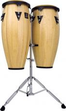 Latin Percussion Aspire Wood Conga Set w/ Double Stand